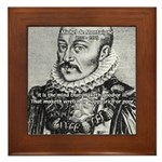 Power of Mind: Montaigne Framed Tile
