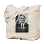Politics George W. Bush Snr Tote Bag