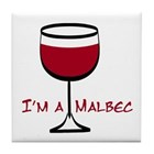 malbec wine coaster