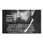 British Idealism Bradley Rectangle Sticker