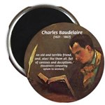 "French Poets Baudelaire 2.25"" Magnet (10 pack)"