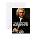 Composer J.S. Bach Greeting Cards (Pk of 10)