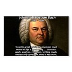 Composer J.S. Bach Rectangle Sticker