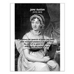 Women in History Jane Austen Small Poster