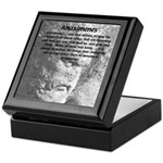 Anaximenes Air Philosophy Keepsake Box