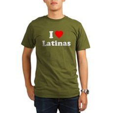 I Love [Heart] Latinas Organic Mens Dark T-Shirt