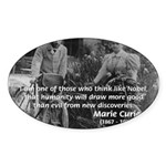 Marie & Pierre Curie Good Evil Oval Sticker