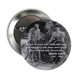 "Marie & Pierre Curie Good Evil 2.25"" Button (10 pa"
