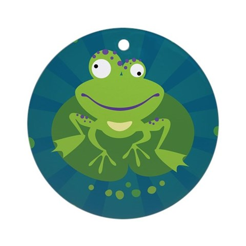 funny pics of frogs. Funny Frog Ornament (Round)
