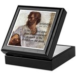 Aristotle Education Quote Keepsake Box