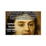 Samuel Taylor Coleridge Poet Rectangle Magnet