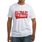 Edward Christmas Fitted T-Shirt
