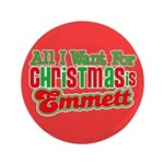 "Christmas Emmett 3.5"" Button (100 pack)"