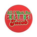 "Christmas Jacob 3.5"" Button"