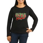 Christmas Jasper Women's Long Sleeve Dark T-Shirt