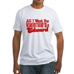Edward Valentine Fitted T-Shirt
