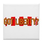 Got Liberty Distressed Stripe Tile Coaster