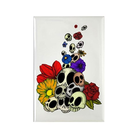 tattoos of skulls and flowers. Skulls amp; Flowers Rectangle