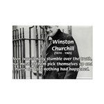 Churchill Fear of Truth Rectangle Magnet (10 pack)