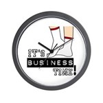 It's Business Time Wall Clock