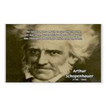 Arthur Schopenhauer Rectangle Sticker