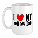 I Love My Yellow Lab Large Mug
