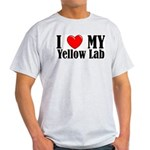I Love My Yellow Lab Ash Grey T-Shirt