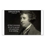 Edmund Burke: Good & Evil Rectangle Sticker