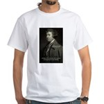 Edmund Burke: Good & Evil White T-Shirt