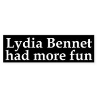 Jane Austen character: Lydia Bennet had more fun