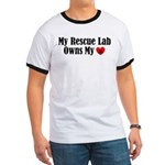 Heart Owning Rescue Lab Ringer T