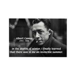 Albert Camus Motivational Rectangle Magnet