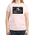 Albert Camus Motivational Women's Pink T-Shirt