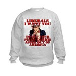 Anti Pinko Commie Liberals Kids Sweatshirt