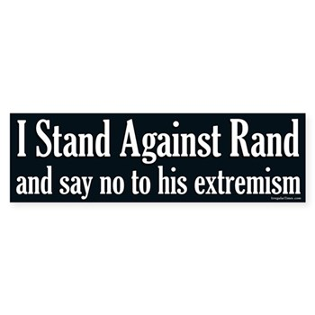 I Stand Against Rand (Rand Paul Bumper Sticker)