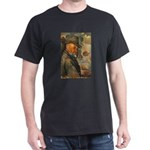 Cezanne Emotion Artistic Quote Black T-Shirt