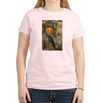 Cezanne Emotion Artistic Quote Women's Pink T-Shir
