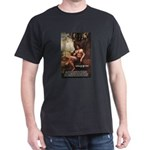 Leonardo da Vinci Quote Black T-Shirt