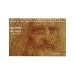 Wisdom Leonardo da Vinci Rectangle Magnet (100 pac