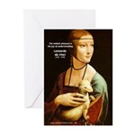 Leonardo da Vinci Pleasure Greeting Cards (Package
