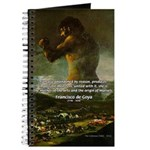 Goya Colossus Fantasy Quote Journal