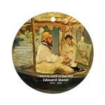 French Painter Manet Quote Ornament (Round)