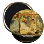 French Painter Manet Quote Magnet