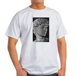 David with Michelangelo Quote Ash Grey T-Shirt