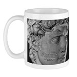 David with Michelangelo Quote Mug