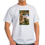 Sistine Chapel Adam & Eve Ash Grey T-Shirt