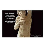 Michelangelo Angel in Sculpture Postcards (Package