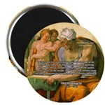 "Michelangelo Art Philosophy 2.25"" Magnet (10 pack)"