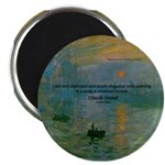 "Claude Monet Torture Art 2.25"" Magnet (10 pack)"