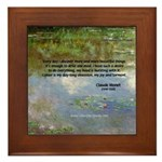 Monet Painting: Beauty Quote Framed Tile
